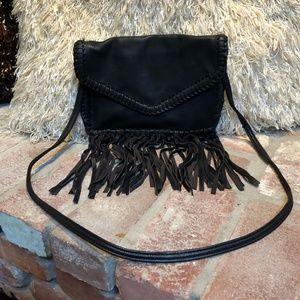 Vintage Faux Leather FRINGE Cross Body Purse Bag